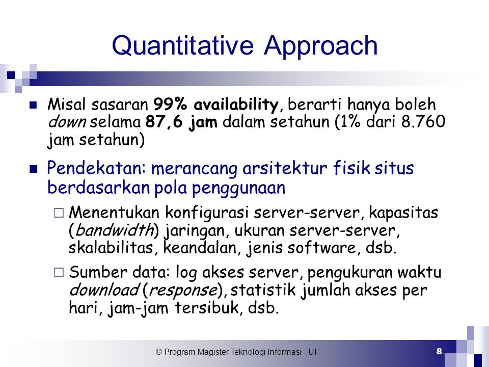 © Program Magister Teknologi Informasi - UI 19 Why CBMG.