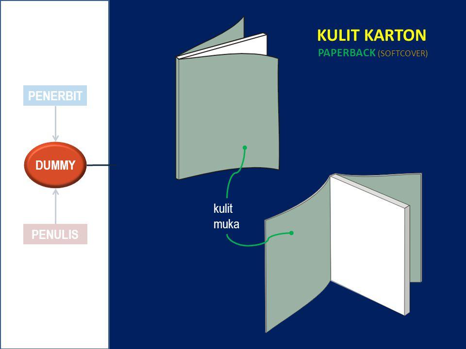 PENERBIT PENULIS KULIT KARTON PAPERBACK (SOFTCOVER) kulit muka DUMMY