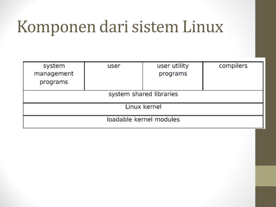 Komponen dari sistem Linux