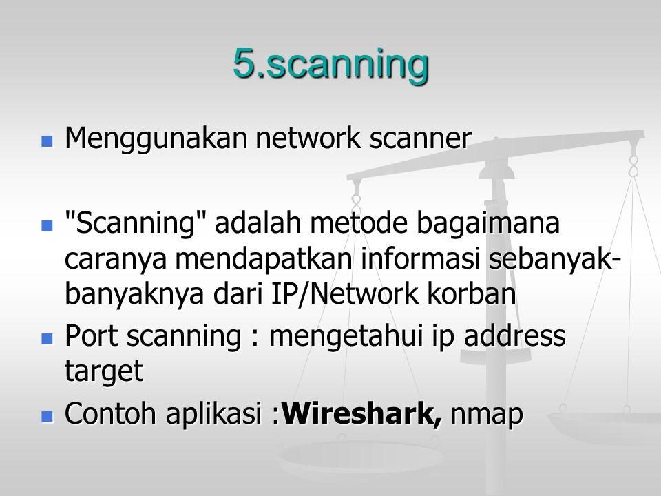 5.scanning Menggunakan network scanner Menggunakan network scanner