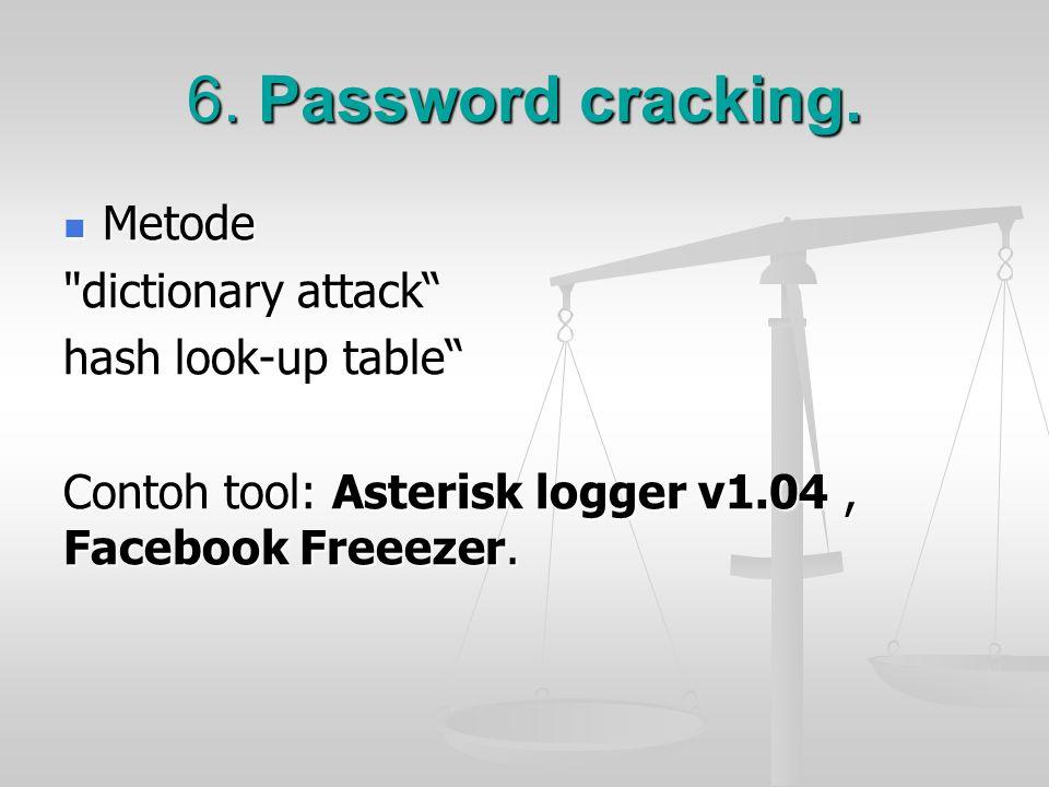 6. Password cracking. Metode Metode