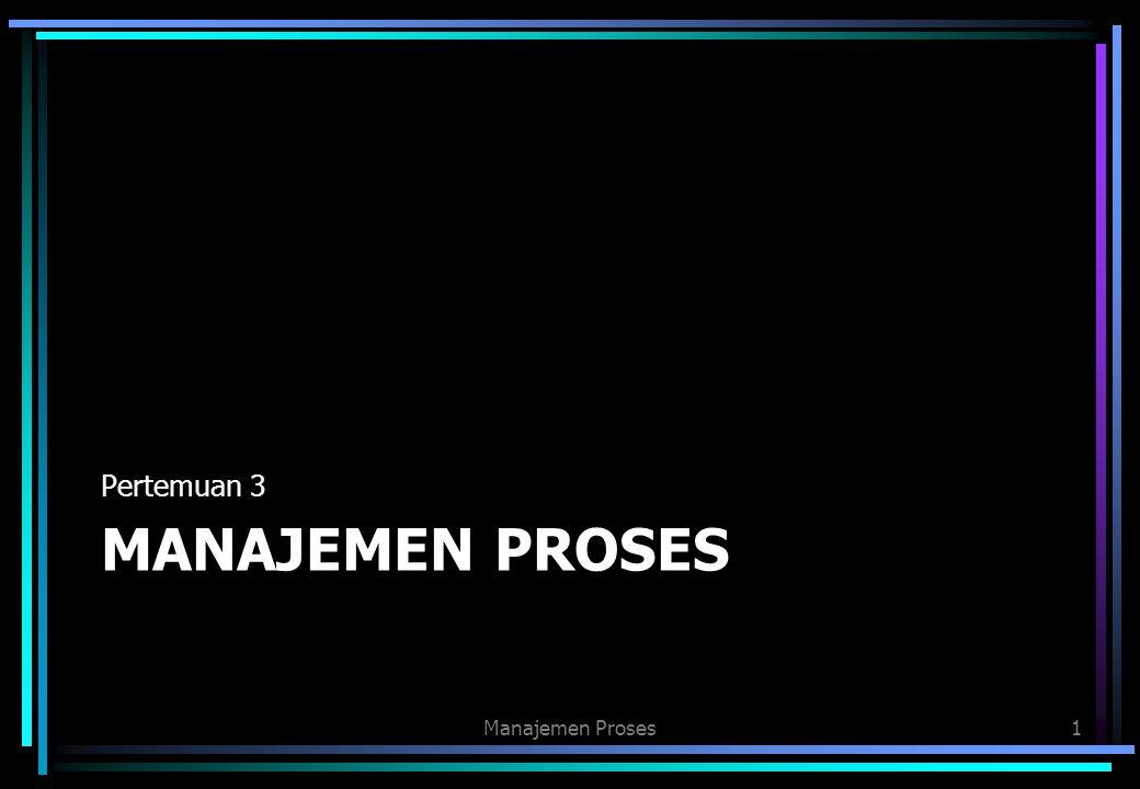MANAJEMEN PROSES Pertemuan 3 Manajemen Proses1