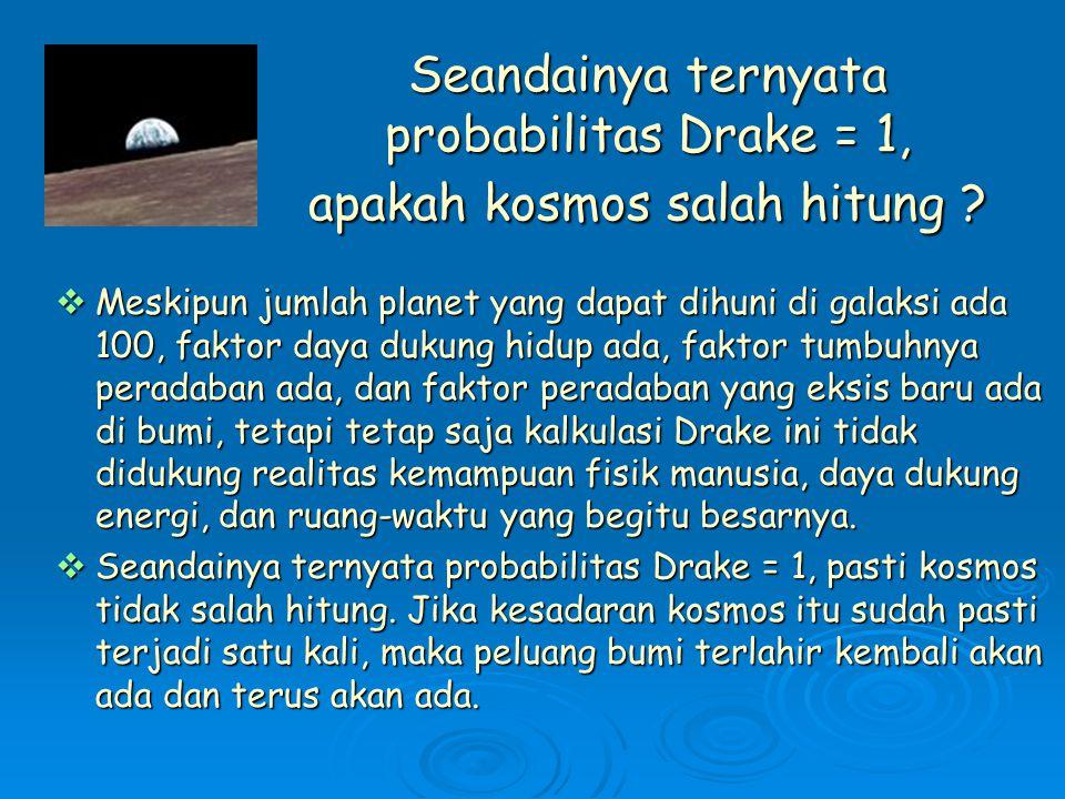 Seandainya ternyata probabilitas Drake = 1, apakah kosmos salah hitung .