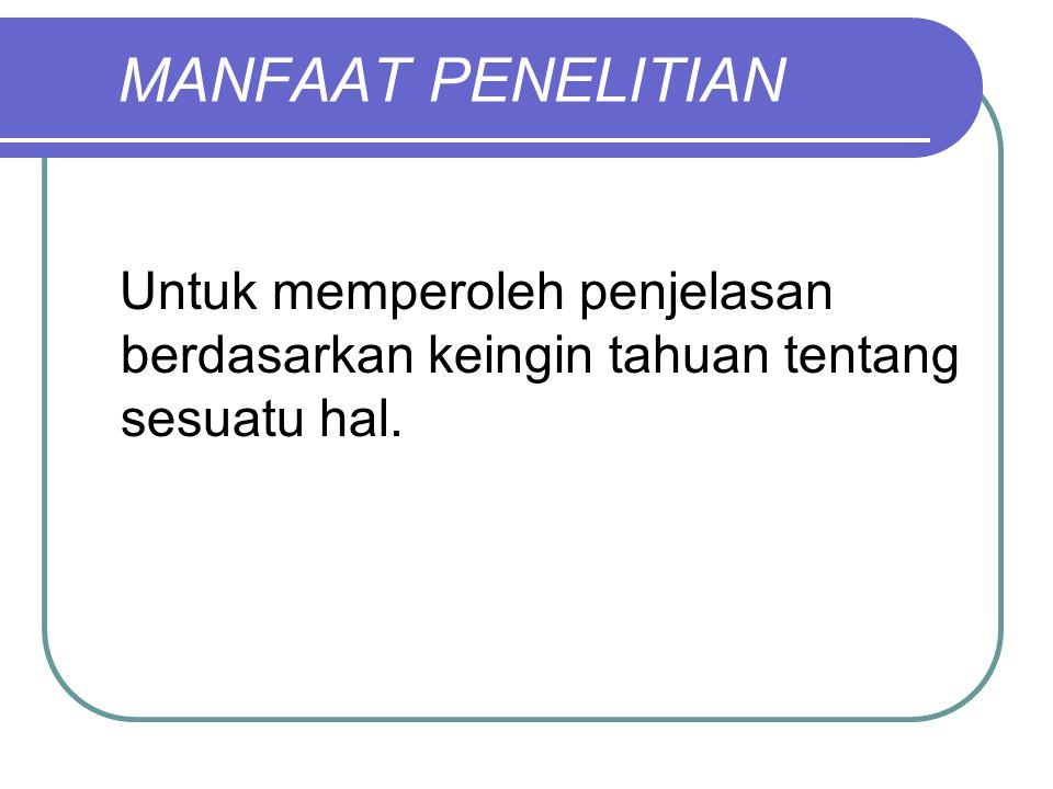 C.Jenis Penelitian menurut Metode: 1.