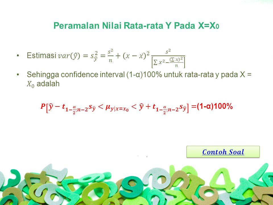 Peramalan Nilai Rata-rata Y Pada X=X 0