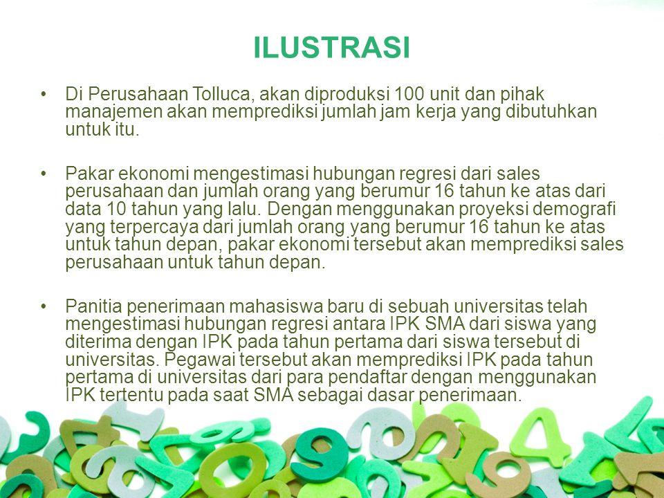 ILUSTRASI Di Perusahaan Tolluca, akan diproduksi 100 unit dan pihak manajemen akan memprediksi jumlah jam kerja yang dibutuhkan untuk itu.