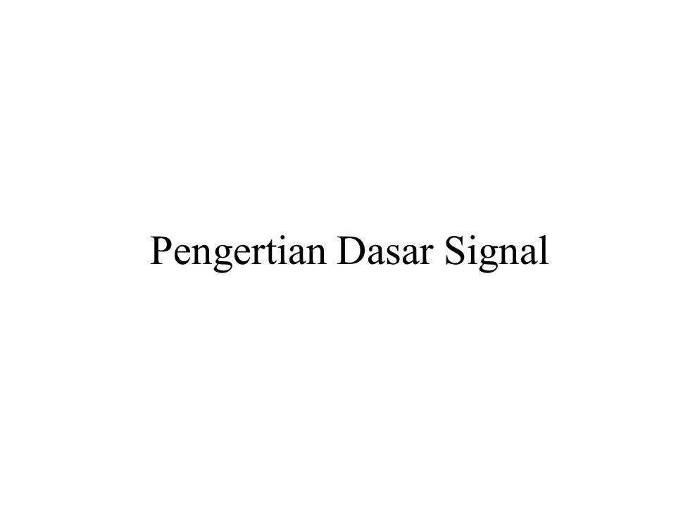 Pengertian Dasar Signal