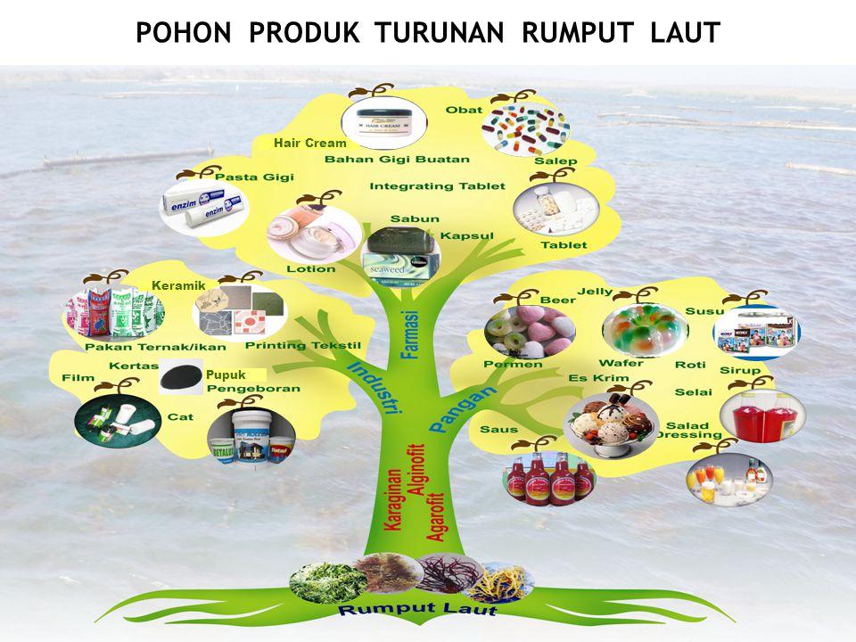Hair Cream Pupuk Keramik POHON PRODUK TURUNAN RUMPUT LAUT