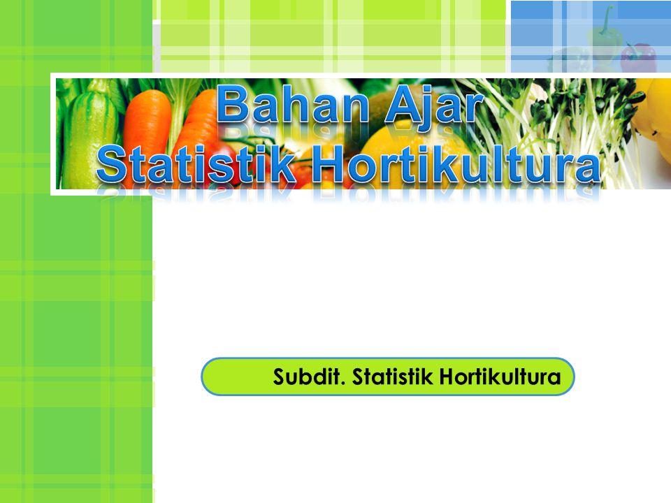 Subdit. Statistik Hortikultura