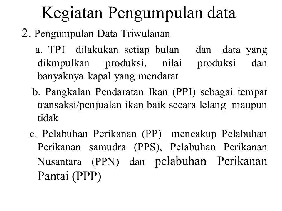 Kegiatan Pengumpulan data 2.Pengumpulan Data Triwulanan a.
