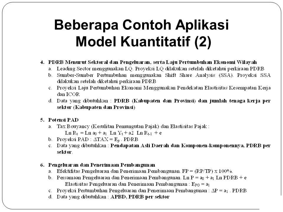 7 Beberapa Contoh Aplikasi Model Kuantitatif (2)