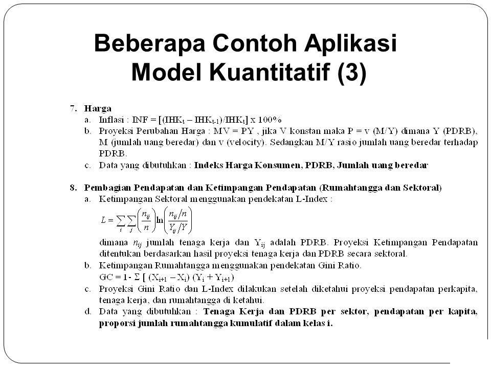 8 Beberapa Contoh Aplikasi Model Kuantitatif (3)