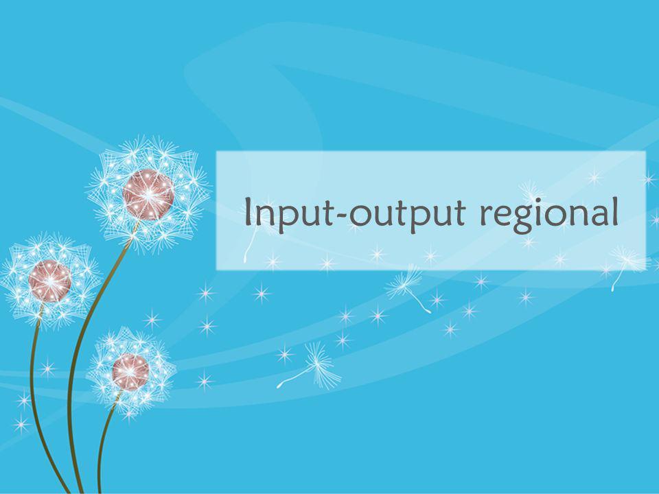 Motivasi Mengapa mempelajari input-output tingkat regional.