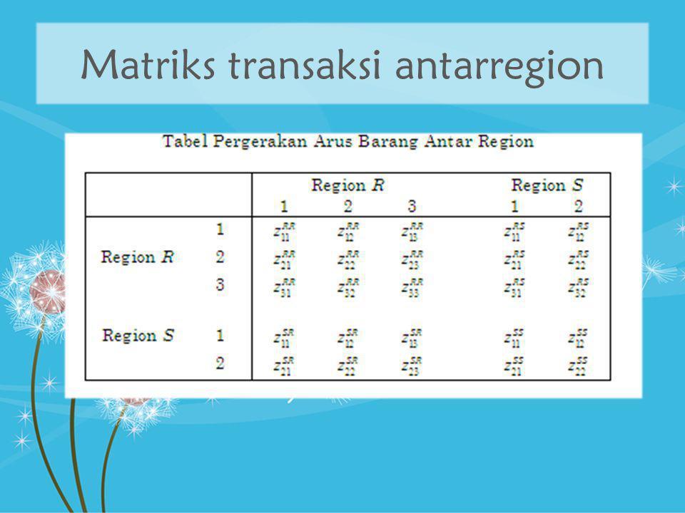 Matriks transaksi antarregion