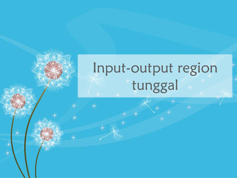 Struktur IO region tunggal Transaksi antarindustri Permintaan akhir Input primer Sektor 1 2 3...