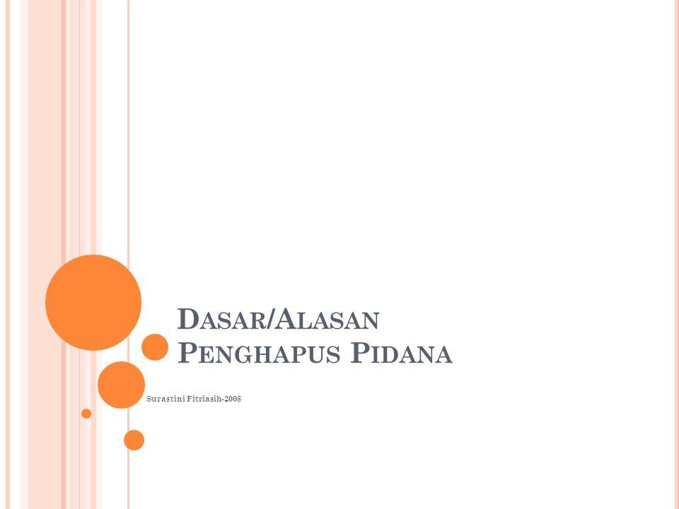 D ASAR /A LASAN P ENGHAPUS P IDANA Surastini Fitriasih-2008