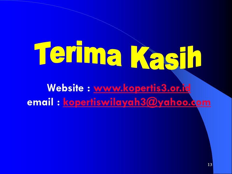13 Website : www.kopertis3.or.id email : kopertiswilayah3@yahoo.comwww.kopertis3.or.idkopertiswilayah3@yahoo.com