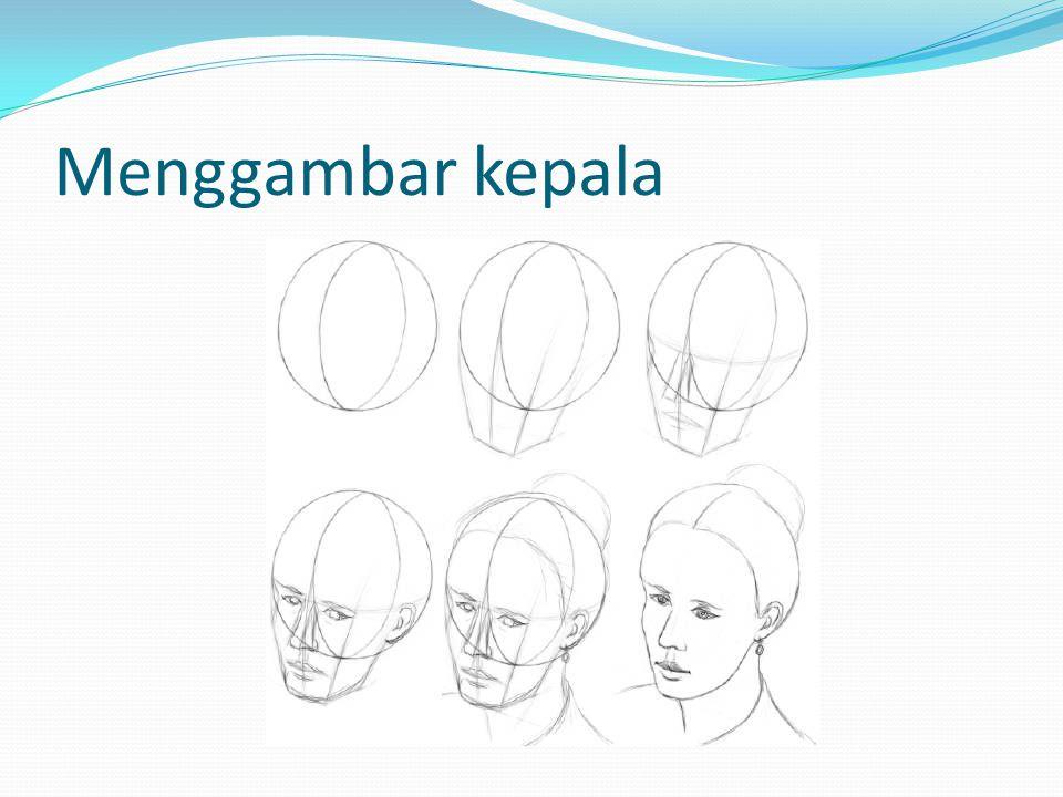 Menggambar kepala