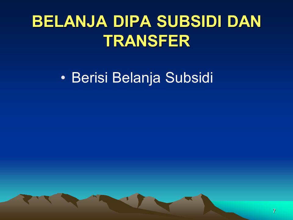 7 Berisi Belanja Subsidi BELANJA DIPA SUBSIDI DAN TRANSFER
