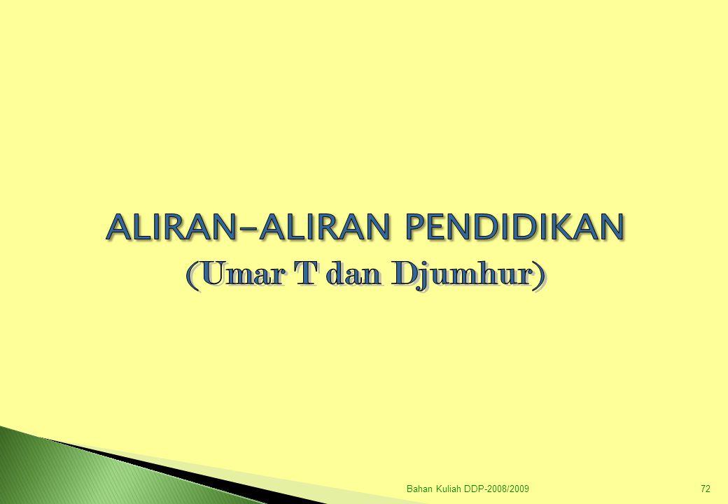 Bahan Kuliah DDP-2008/200973 I.ALIRAN KLASIK PENDIDIKAN A.