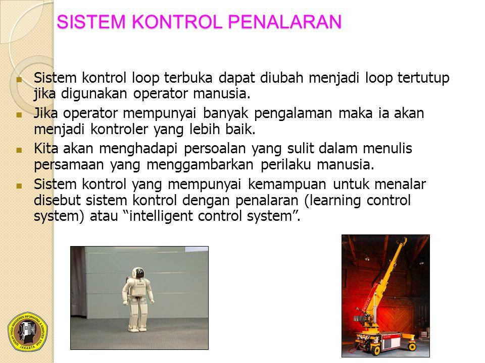 SISTEM KONTROL PENALARAN Sistem kontrol loop terbuka dapat diubah menjadi loop tertutup jika digunakan operator manusia. Jika operator mempunyai banya