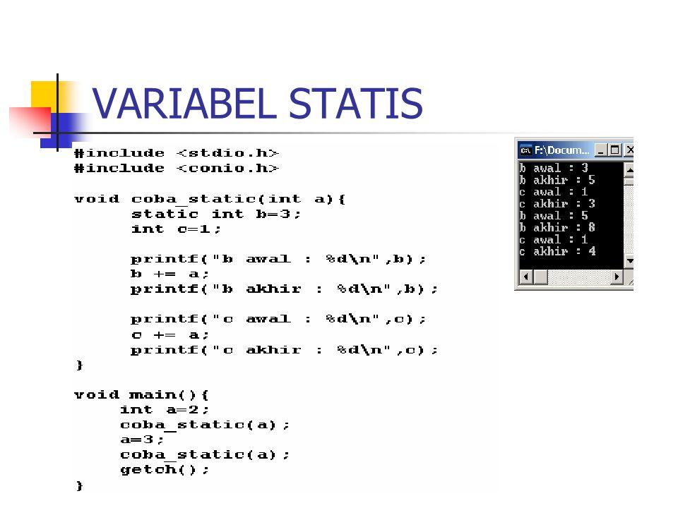 VARIABEL STATIS