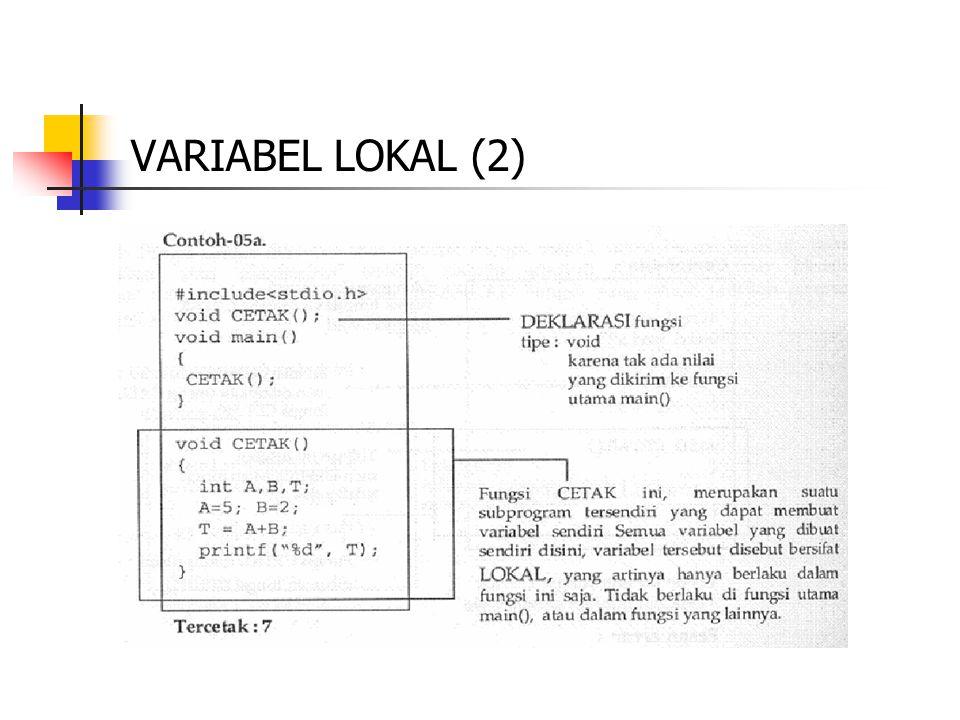 VARIABEL LOKAL (2)
