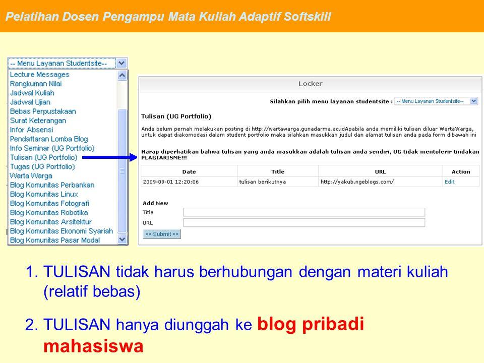 Pelatihan Dosen Pengampu Mata Kuliah Adaptif Softskill http://wartawarga.gunadarma.ac.id