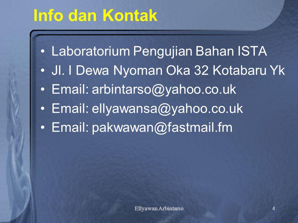 Ellyawan Arbintarso4 Info dan Kontak Laboratorium Pengujian Bahan ISTA Jl.