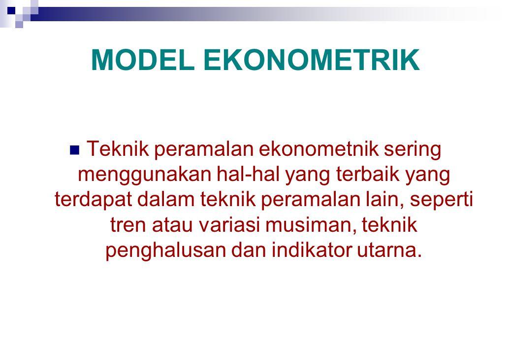 METODE-METODE BAROMETRIK Salah satu cara untuk meramalkan atau mengantisipasi perubahan jangka pendek dalam aktivitas ekonomi atau titik balik dalam s