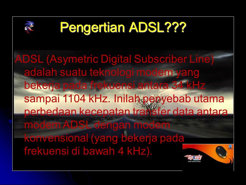 Pengertian ADSL .