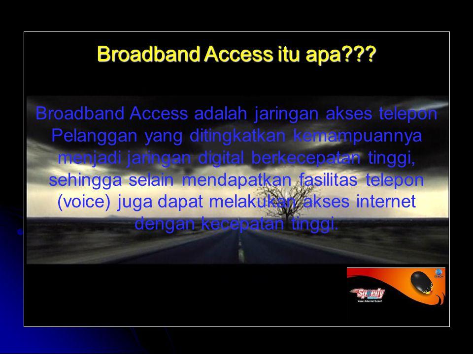 Broadband Access itu apa .