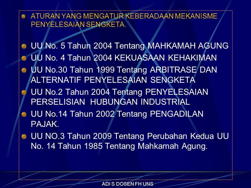 UU No.19 Tahun 2004 Tentang KEHUTANAN (UU No.41/1999-Perpu No.1/2004-judicial review di MK larangan penambangan di hutan lindung tdk dikabulkan) UU No