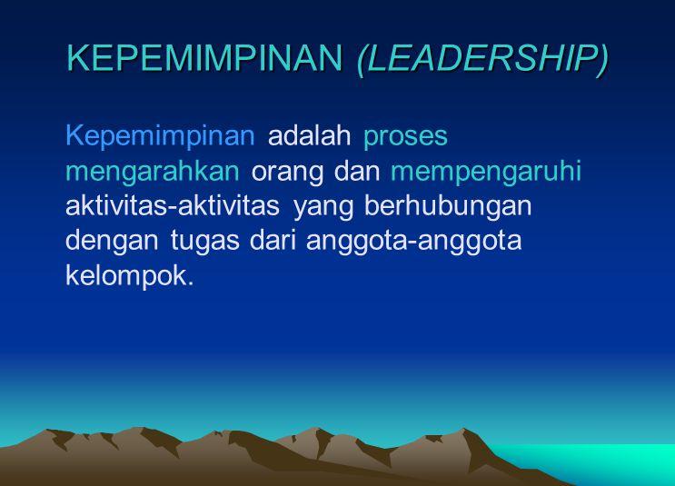 Memimpin orang atau mengarahkan orang atau mengatur orang adalah suatu hal yang gampang-gampang susah (bawahan sering mempunyai pendapat, pengalaman, kematangan jiwa, kemauan, dan kemampuan yang berbeda bahkan di atas pemimpin)