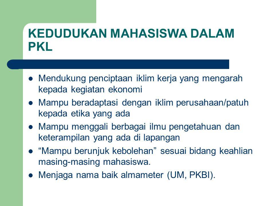Beberapa contoh etika perusahaan Jam kerja perusahaan pkl: 08.00 –15.00 WIB (istirahat : pkl.
