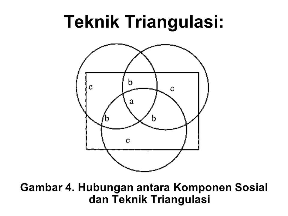 Teknik Triangulasi: Gambar 4. Hubungan antara Komponen Sosial dan Teknik Triangulasi