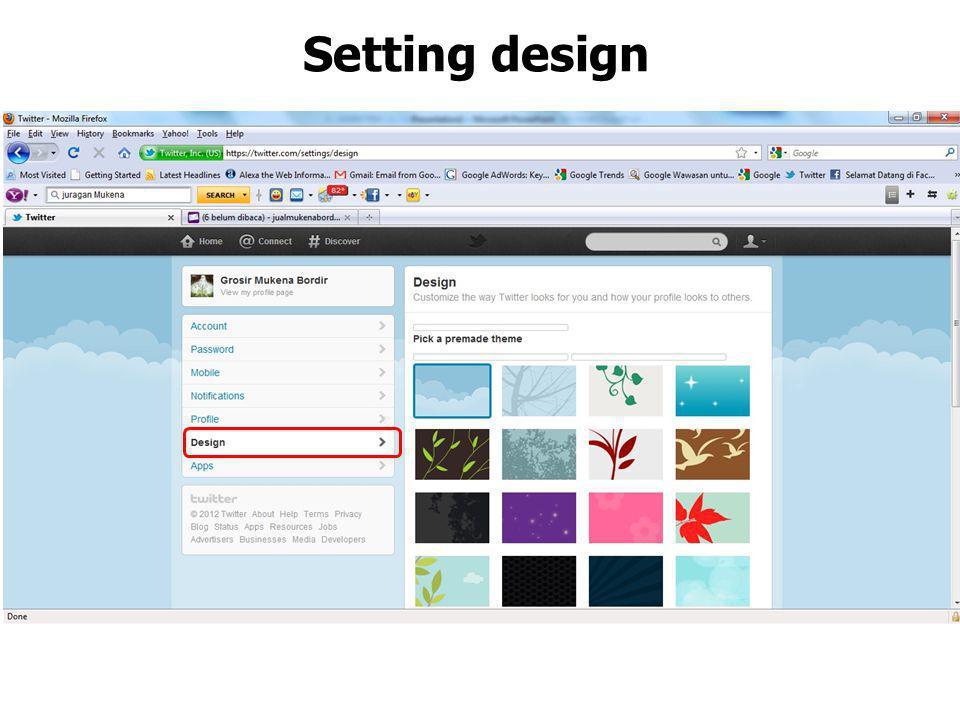 Saatnya setting design