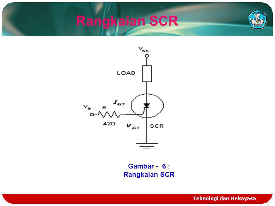 Teknologi dan Rekayasa Rangkaian SCR Gambar - 6 : Rangkaian SCR