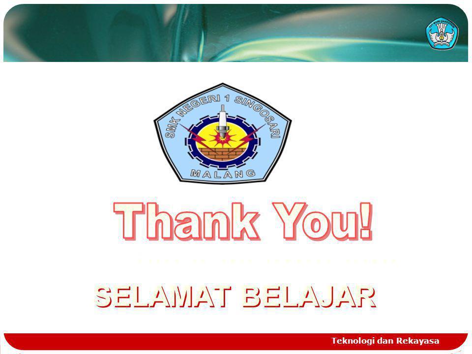 Teknologi dan Rekayasa Click to edit company slogan www.themegallery.com SELAMAT BELAJAR