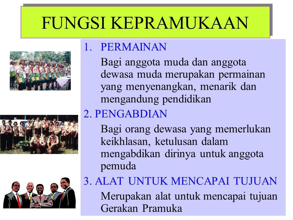 SIFAT KEPRAMUKAAN 1.Gerakan Pramuka adalah gerakan kepanduan nasional Indonesia 2.Gerakan Pramuka adalah organisasi pendidikan yang keanggotaannya ber