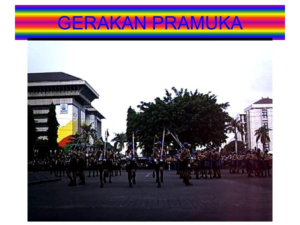 NAMA ORGANISASI 1.Organisasi ini bernama Gerakan Pramuka yaitu Gerakan Kepanduan Praja Muda Karana 2.Didirikan untuk waktu yang tidak ditentukan dan ditetapkan dengan Keppres Nomor 238 Tahun 1961.