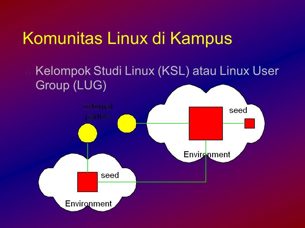 Komunitas Linux di Kampus Kelompok Studi Linux (KSL) atau Linux User Group (LUG)