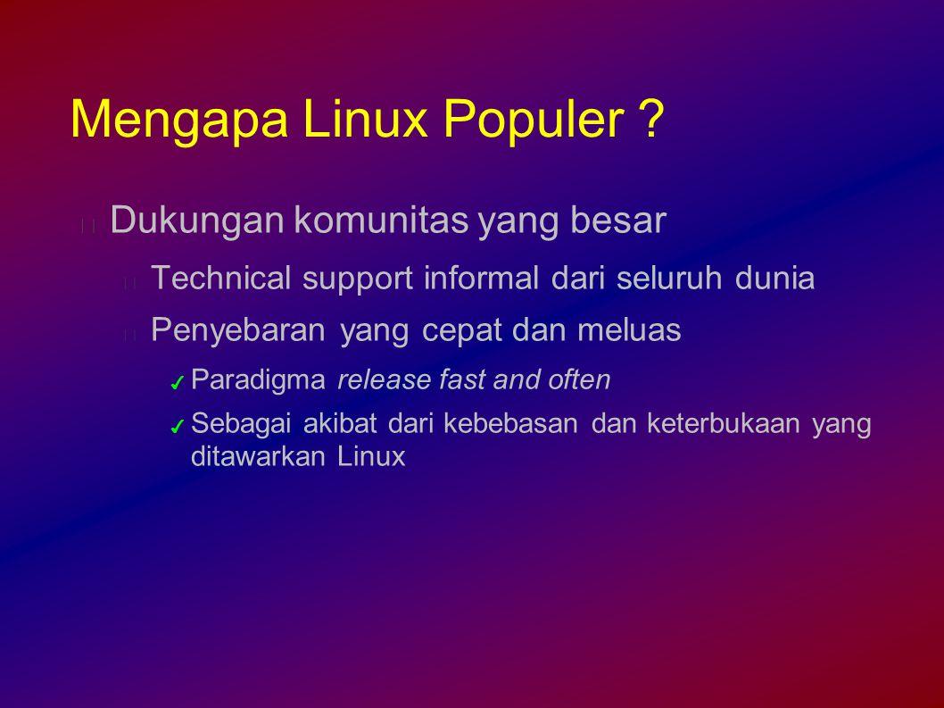 Mengapa Linux Populer .