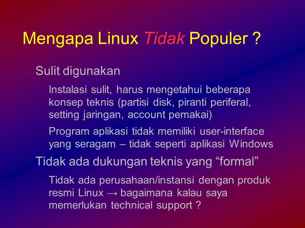 Mengapa Linux Tidak Populer .