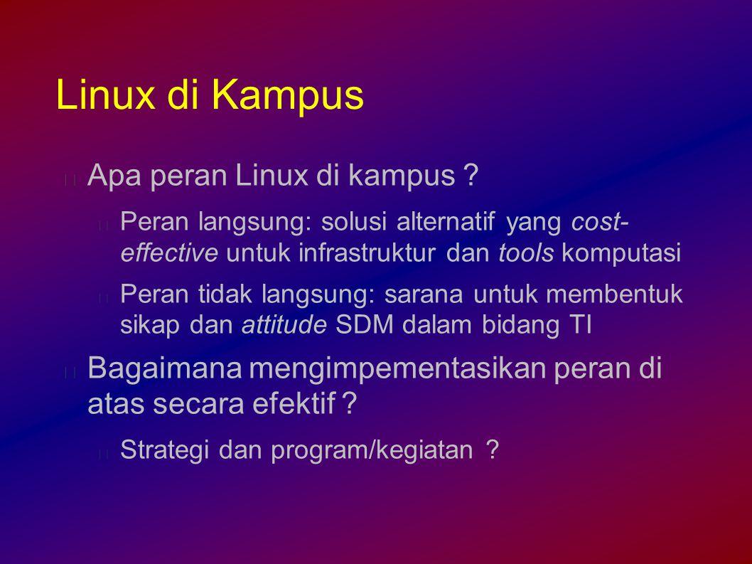 Linux di Kampus Apa peran Linux di kampus .