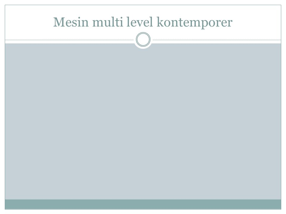 Mesin multi level kontemporer