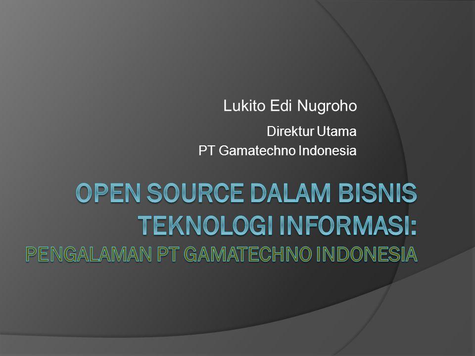Agenda  Tentang PT Gamatechno Indonesia (GI)  Pemanfaatan Aplikasi Open Source dalam Bisnis GI  Lessons Learned  Penutup