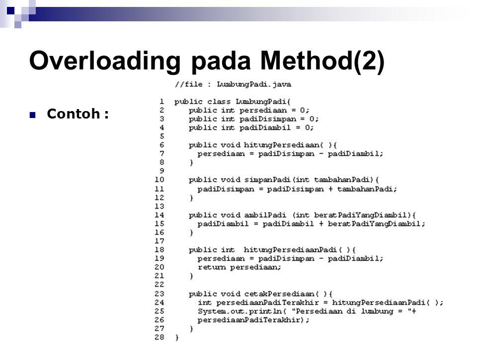 Overloading pada Method(2) Contoh :