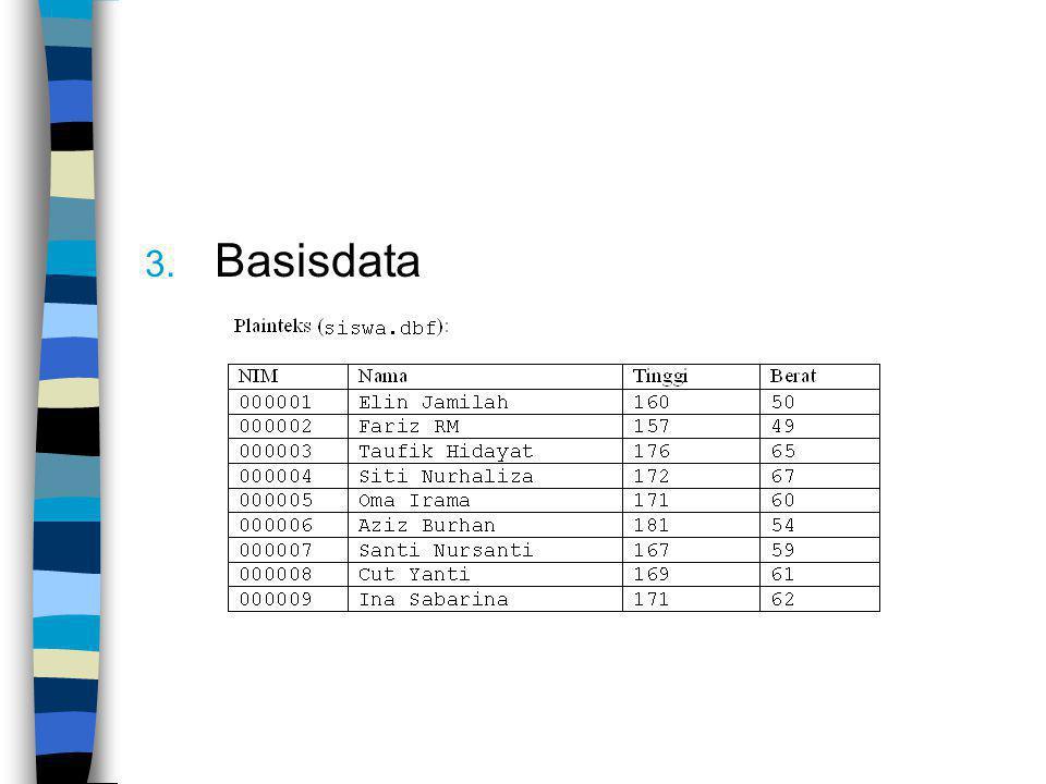 3. Basisdata