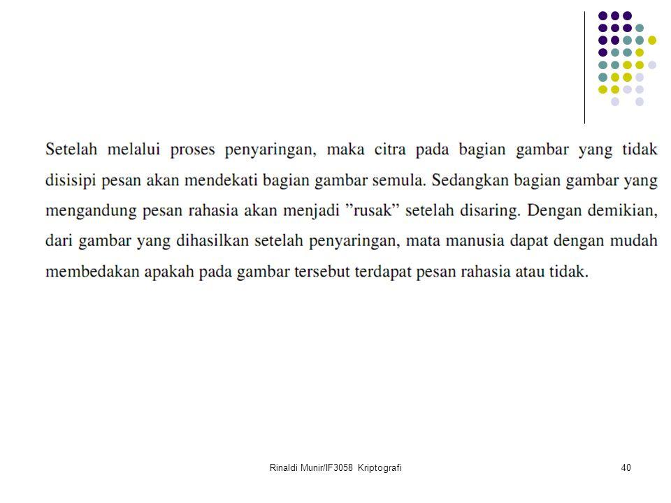 Rinaldi Munir/IF3058 Kriptografi40